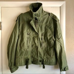 NEW! Free People moss green bomber utility jacket